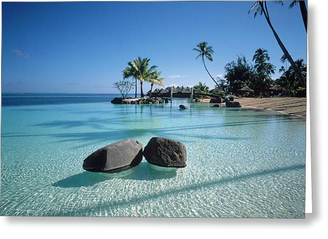 Resort Tahiti French Polynesia Greeting Card by Panoramic Images