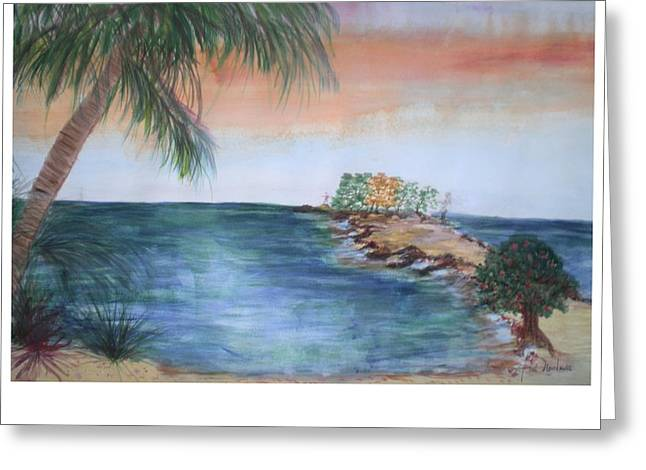 Resort The Keys Greeting Card by Hal Newhouser
