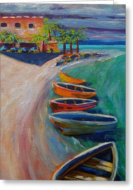 Resort Time Greeting Card by Anne Marie Brown
