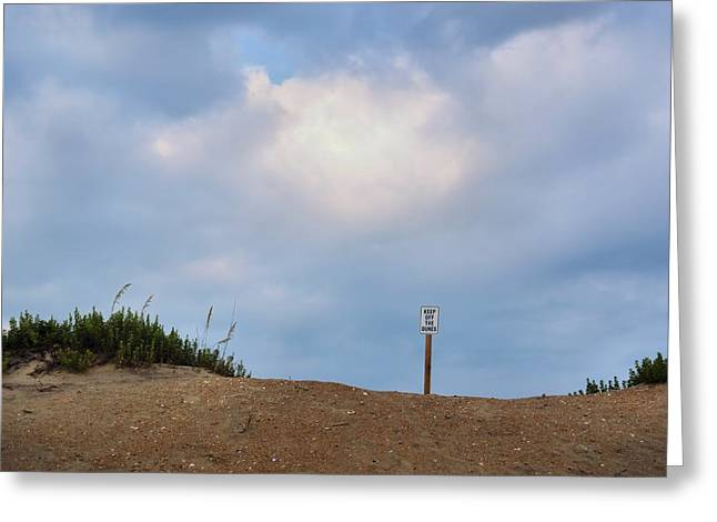 Respect The Beach Greeting Card by JAMART Photography