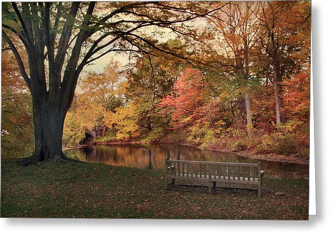 Respite River Greeting Card by Jessica Jenney