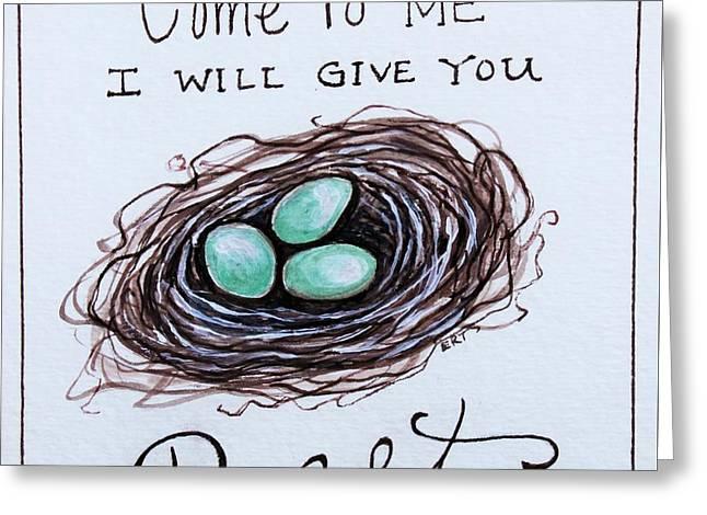 Rest Greeting Card by Elizabeth Robinette Tyndall