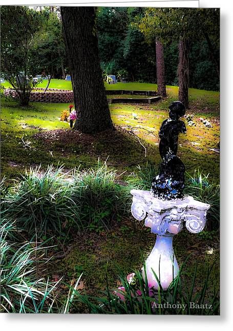 Greeting Card featuring the photograph Rest In Peace by Anthony Baatz