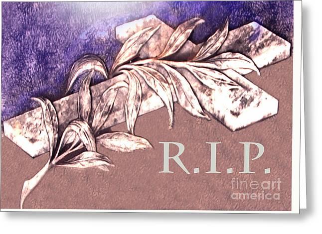 Rest In Peace My Friend Greeting Card by Al Bourassa