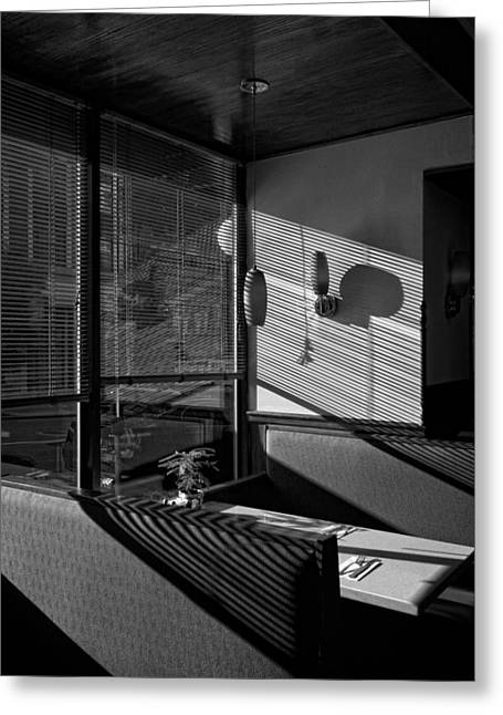 Restaurant Late Afternoon Greeting Card by Robert Ullmann