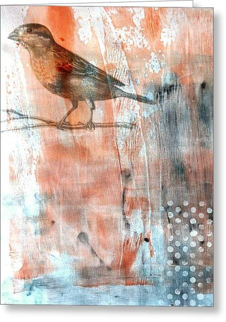 Greeting Card featuring the mixed media Restful Moment by Rose Legge