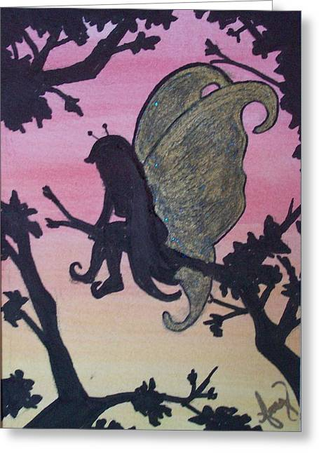 Restful Sunset Greeting Card by Amy Lauren Gettys