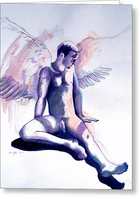 Resting Angel Greeting Card
