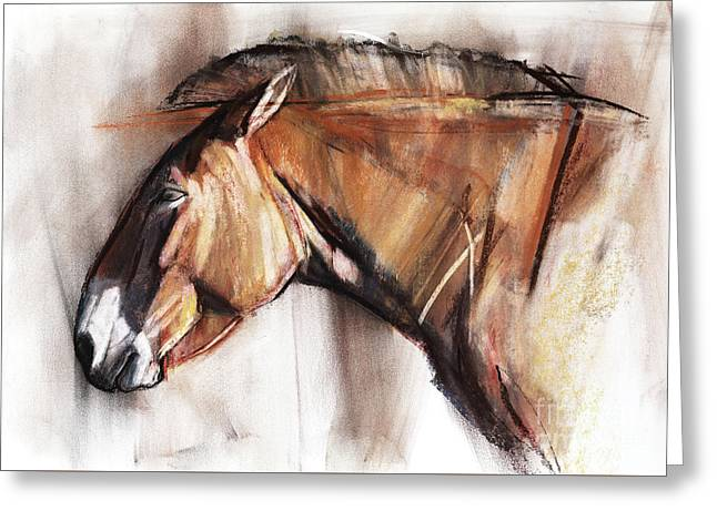 Resting Horse Greeting Card by Mark Adlington