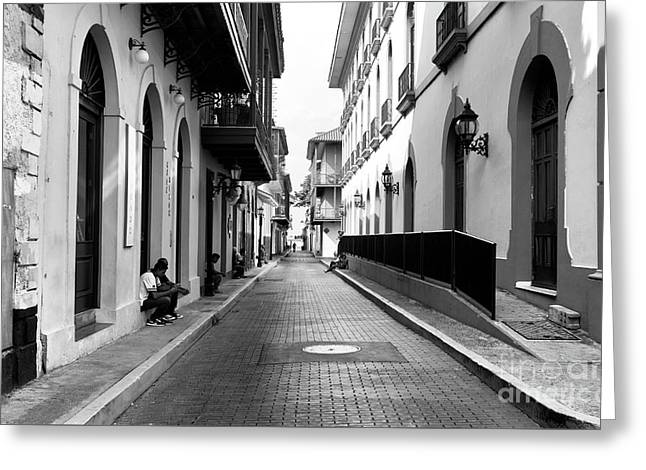 Resting In Casco Viejo Mono Greeting Card