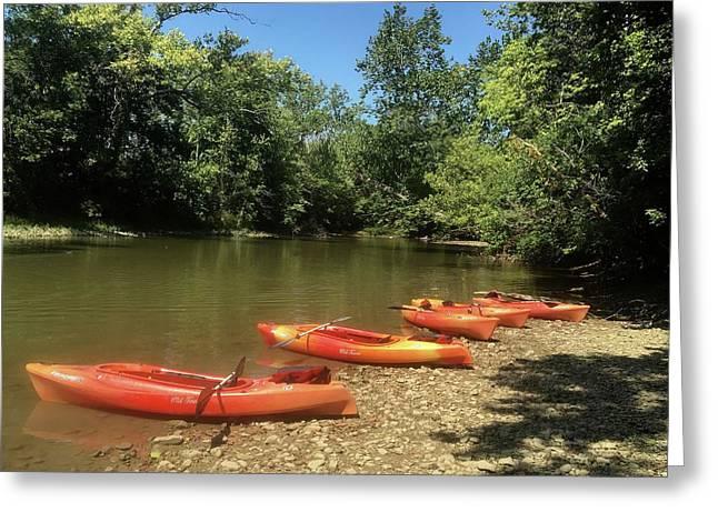 Resting Kayaks Greeting Card