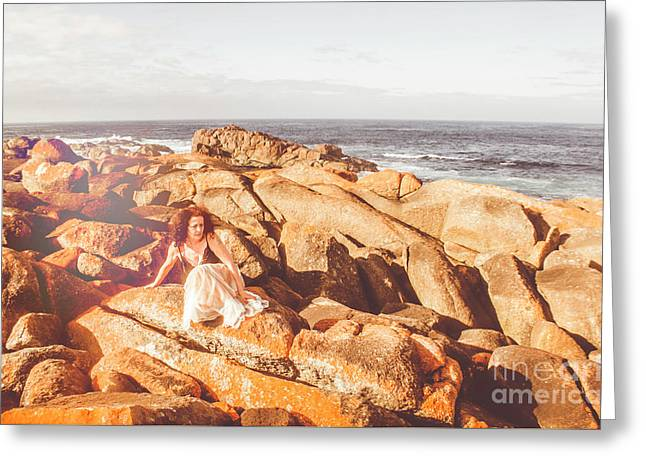Resting On A Cliff Near The Ocean Greeting Card by Jorgo Photography - Wall Art Gallery