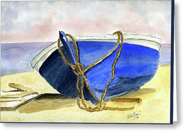 Resting On The Beach Greeting Card