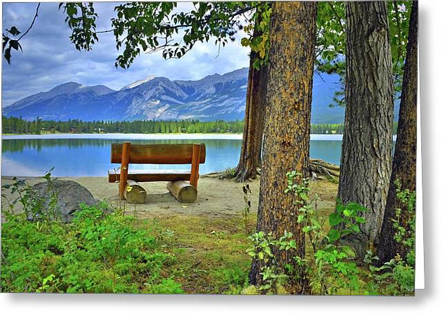 Greeting Card featuring the photograph Resting Place At Lake Annette by Tara Turner