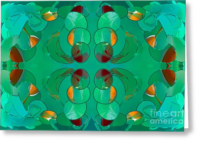 Resting Realities Abstract Art By Omashte Greeting Card by Omaste Witkowski