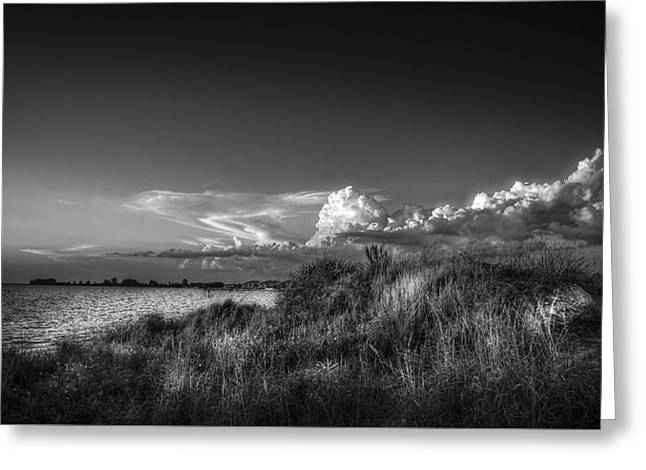 Restless Sky - Bw Greeting Card