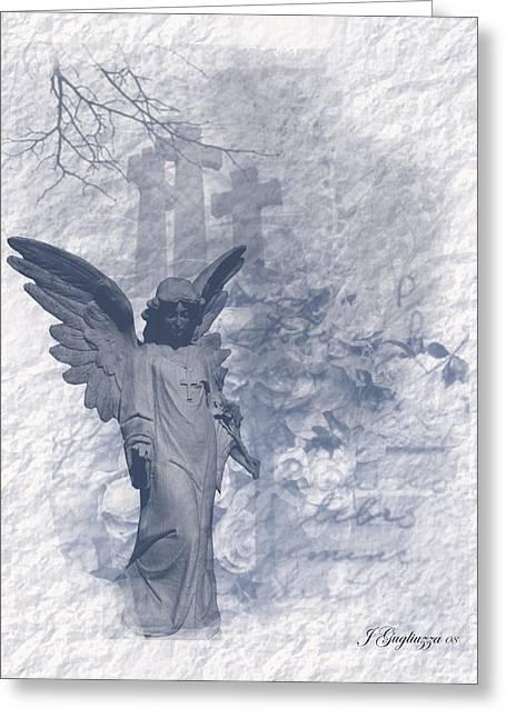 Resurrection Angel Greeting Card by Jean Gugliuzza
