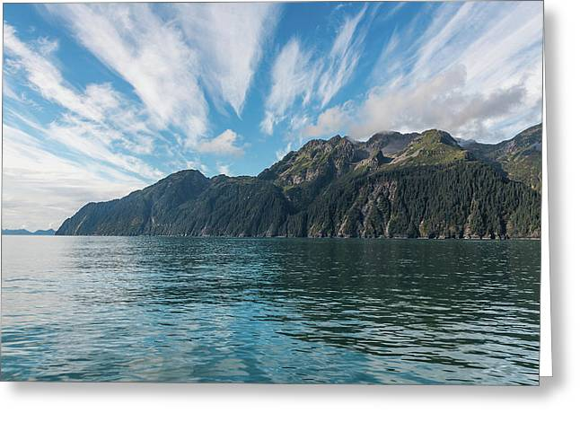 Greeting Card featuring the photograph Resurrection Bay, Kenai Fjords National Park In Alaska by Brenda Jacobs