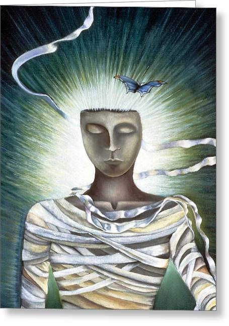Resurrection Greeting Card by Gloria Cigolini-DePietro