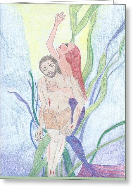 Resurrection Greeting Card by Megan Crow