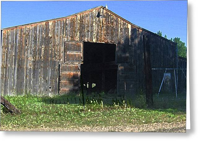 Greeting Card featuring the photograph Retired Barn by Tammy Sutherland