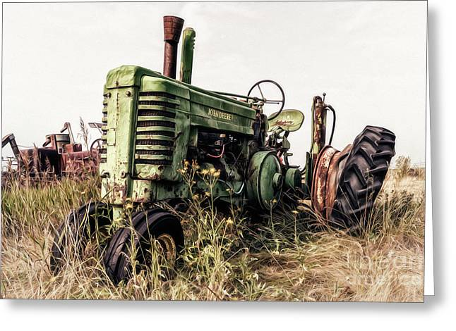 Greeting Card featuring the photograph Retired by Brad Allen Fine Art