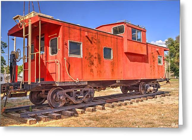 Retired Co Caboose Greeting Card by Paul Lindner