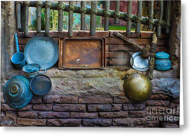 Retired Cookware  Greeting Card by Gary Keesler