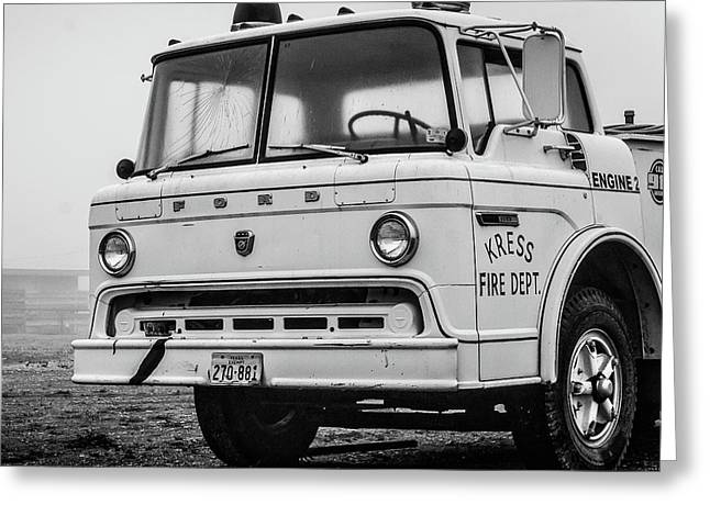 Retired Fire Truck Greeting Card