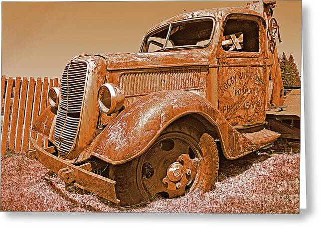Retired Ford Truck Greeting Card by Rich Walter