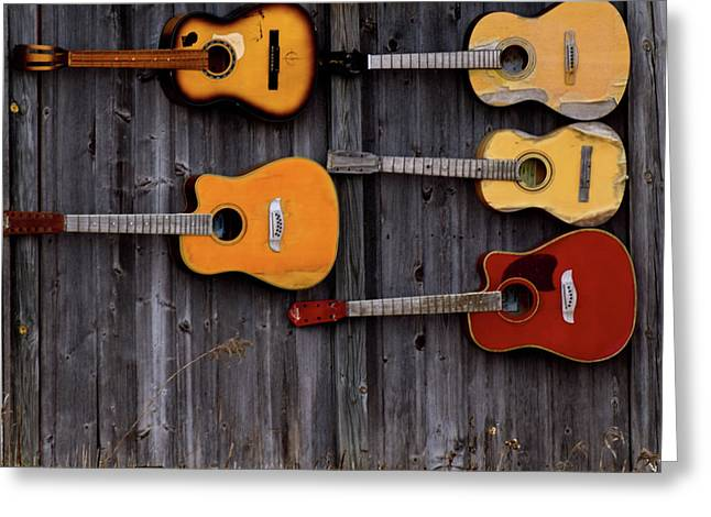 Retired Guitars  Greeting Card