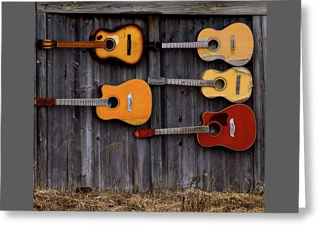 Retired Guitars  Greeting Card