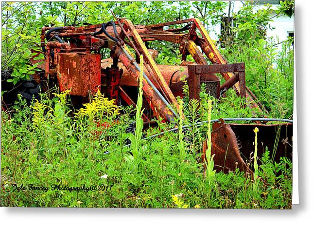 Front End Loader Greeting Cards - Retired Greeting Card by Jale  Fancey