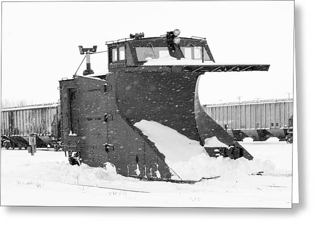 Retired Rail Plow Greeting Card by Nick Mares