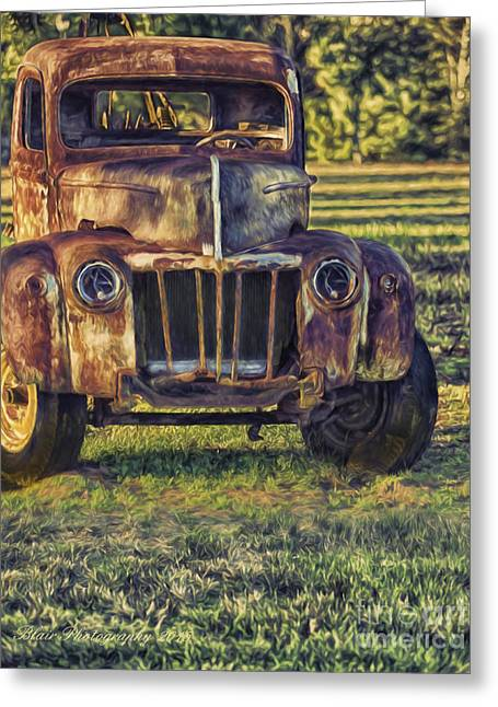 Retired Wrecker Greeting Card by Linda Blair