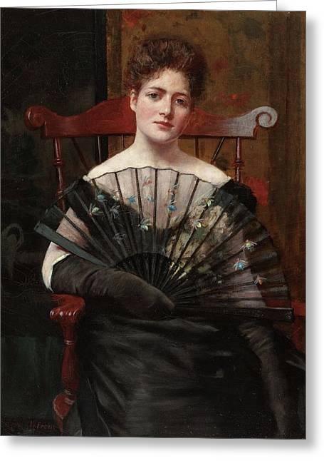 Retrato De Margaret Cecilia Keenan Greeting Card by MotionAge Designs