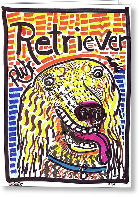 Retriever Greeting Card by Robert Wolverton Jr