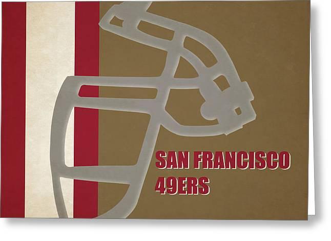 Retro 49ers Art Greeting Card by Joe Hamilton
