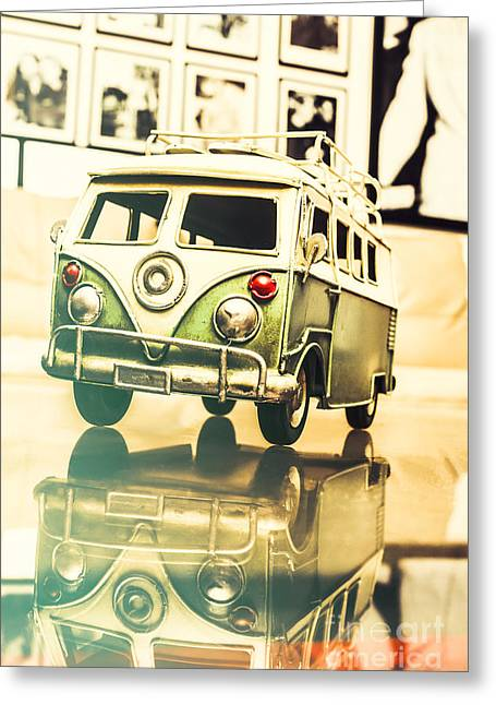 Retro 60s Toy Van Greeting Card by Jorgo Photography - Wall Art Gallery