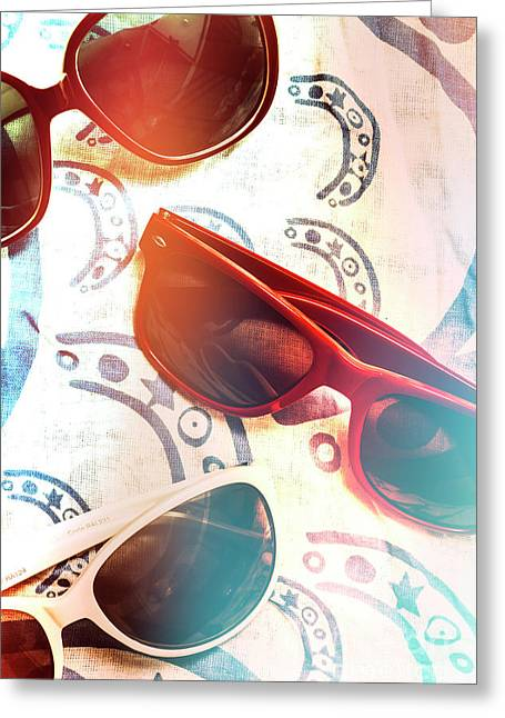 Retro Beach Fashion Greeting Card