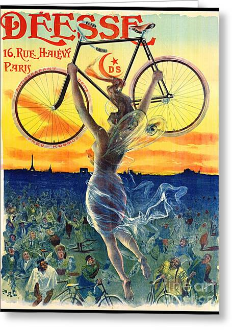 Retro Bicycle Ad 1898 Greeting Card