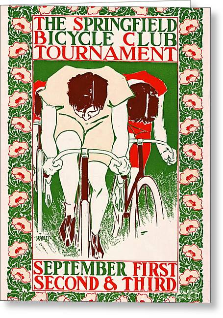Retro Bicycle Poster 1895 Greeting Card