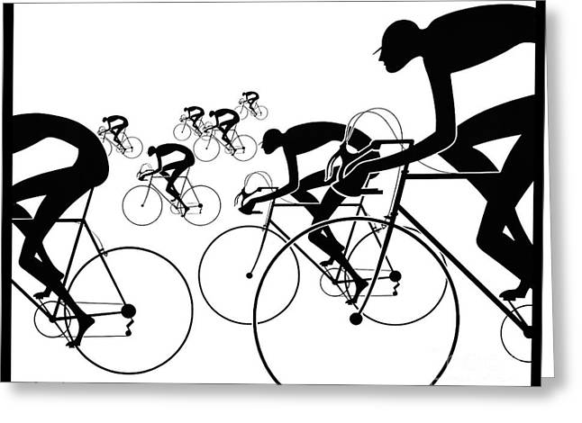 Retro Bicycle Silhouettes 1986 Greeting Card