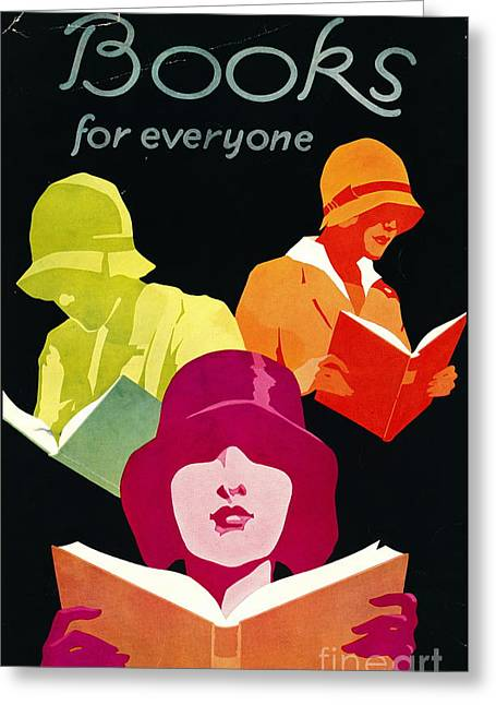 Retro Books Poster 1929 Greeting Card