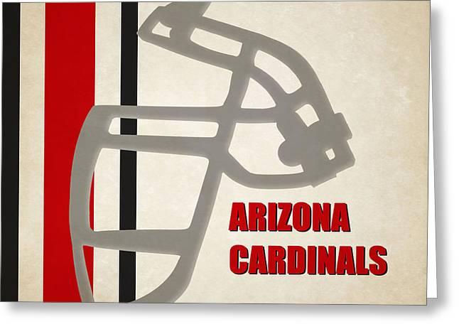 Retro Cardinals Art Greeting Card by Joe Hamilton