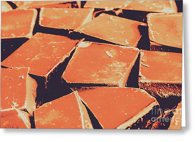 Retro Chocolate Squares Greeting Card