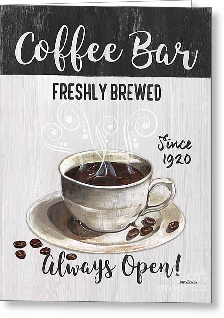 Retro Coffee Shop 2 Greeting Card