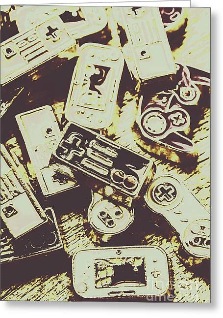 Retro Computer Games Greeting Card by Jorgo Photography - Wall Art Gallery