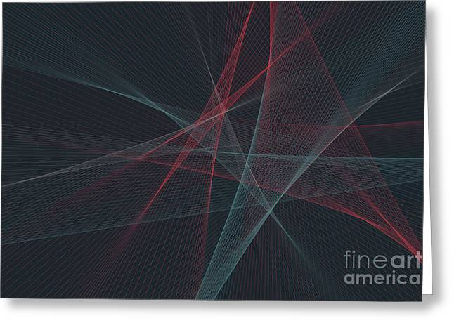 Retro Computer Graphic Line Pattern Greeting Card