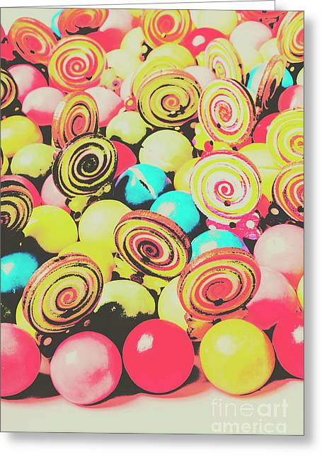 Retro Confectionery Greeting Card by Jorgo Photography - Wall Art Gallery
